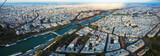 Panorama of Paris with Seine river