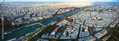 Panorama of Paris with Seine river - 237106304