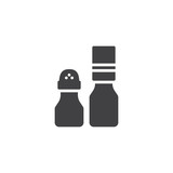 Seasoning bottles vector icon. filled flat sign for mobile concept and web design. Salt and pepper shaker simple solid icon. Symbol, logo illustration. Pixel perfect vector graphics - 237109983