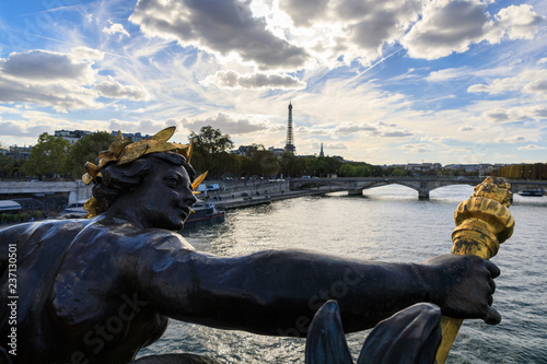Sculpture on the Pont Alexandre III bridge, Paris - 237130501