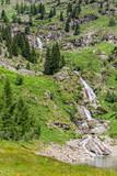 Waterfall supplying Campiccioli Dam in Androna National Park, Piedmont, Italy.