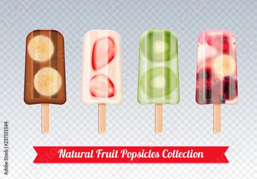 Fruit Popsicles Transparent Set - 237133564