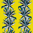 seamless pattern with leaves aloe - 237134318