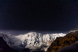 Annapurna 1 during a starry clear night from Annapurna Base Camp, Himalaya - 237146357