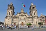 Metropolitan Cathedral of the Assumption of Mary, the largest church in Latin America, Zocalo, Plaza de la Constitucion, Mexico City, Mexico. - 237158503