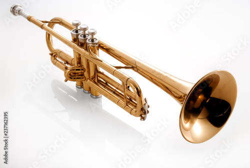 trumpet on white background - 237162395