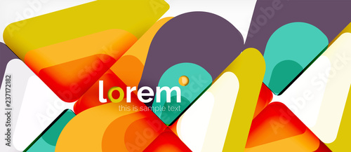Abstract background multicolored geometric shapes modern design - 237172182