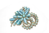 Antique Brooch Jewellery on White Background