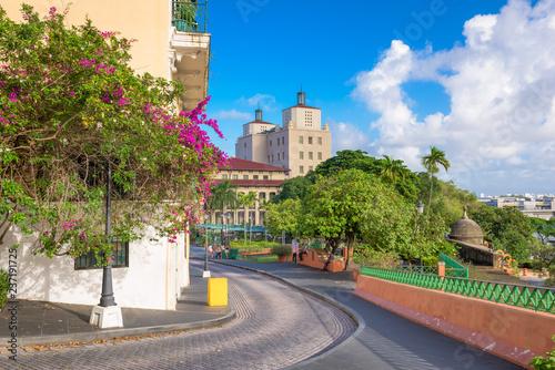 San Juan, Puerto Rico streets and cityscape.