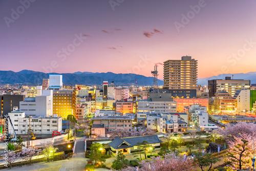 Kofu City, Japan Downtown Skyline at Dusk