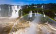 Rainbow over Cataratas del Iguazu waterfall, Brazil - 237206976