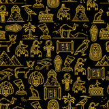 Egyptian seamless pattern of ancient Gods of Egypt - 237227914