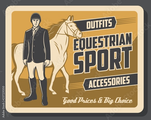 Horse and jockey of equestrian sport