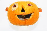 Halloween.pumpkin decorated for a healthy diet - 237233700