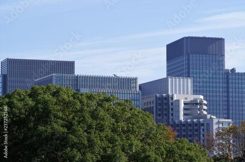 江戸城本丸跡から見た東京の都市景観