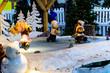 Christmas coming, toys, dwarfs, snow, snowman, Santa Claus, decoration, Christmas tree, bear, light, people - 237253568