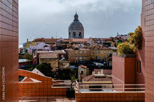 View of the Pantheon from the courtyard in Lisbon - 237264346