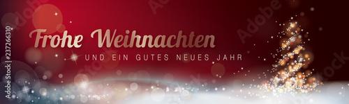 FROHE WEIHNACHTEN_GUTES NEUES JAHR_ROT - 237266310