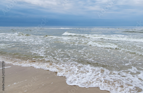 Baltic Sea - landscape with clouded sky.
