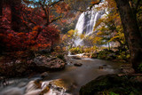 Khlong Lan Waterfall, A waterfall in klong Lan national park of Thailand. KamphaengPhet ,Thailand.