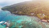 Colorful caribbean island