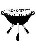 baguette grillen grill bbq brot brötchen französisch frankreich lecker hunger essen bäcker backen comic cartoon clipart