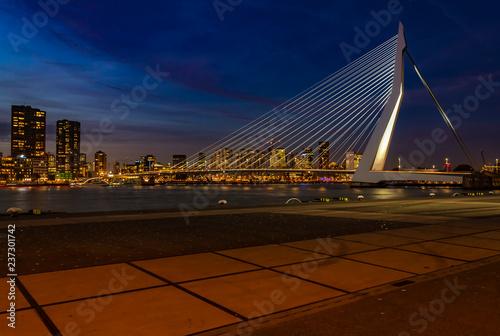 Plakat Erasmus Bridge in Rotterdam