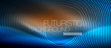 Neon glowing lines, magic energy space light concept, abstract background wallpaper design - 237309962