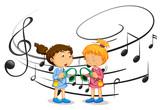 Girls listening to music - 237312527