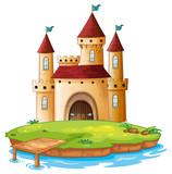 Isolated castle on white background - 237312963