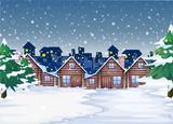 A winter night background - 237314335