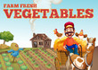 Farm fresh vegetables theme