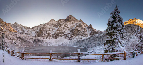 Tatra Mountain nature landscape of Morskie oko