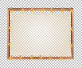 Transparent blank wooden board - 237316925