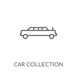 Car collection linear icon. Modern outline Car collection logo concept on white background from Luxury collection