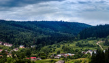 Ukrainian village in the Carpathian