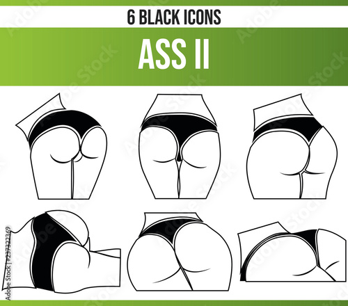 Black Icon Set Ass II