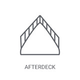 afterdeck icon. Trendy afterdeck logo concept on white background from Nautical collection