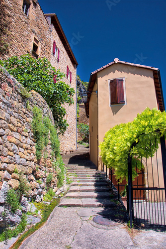 The village of Peyre, officially one of the most beautiful villages in France, close to the city of Millau, on the River Tarn