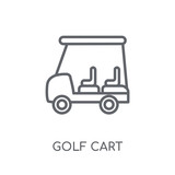 Golf cart linear icon. Modern outline Golf cart logo concept on white background from Transportation collection