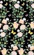 Light roses seamless background pattern. Version 2 - 237339364