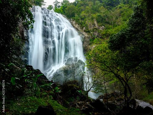 Smooth waterfall  - 237340376