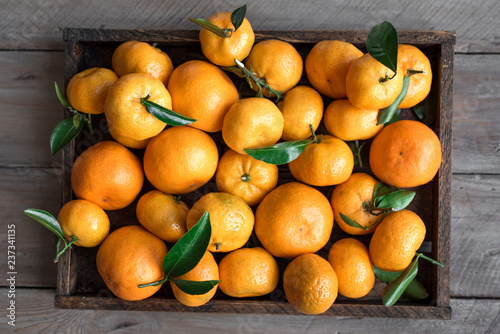 Leinwanddruck Bild Tangerines (clementines)
