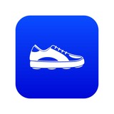 Golf shoe icon digital blue for any design isolated on white vector illustration