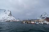 Panorama of the Norwegian village - 237347139