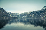 Winter View of Hallstatter See.