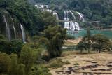 Waterfall Bondjok. North Vietnam.