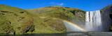 Icelandic waterfall and rainbow
