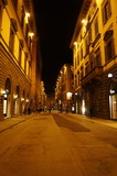 Tornabuoni street at night, Florence, Italy