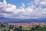 View of Florence from the surrounding hills, Italy